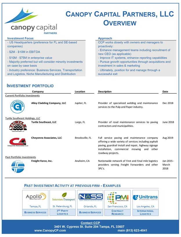 canopy-capital-partners-tear-sheet